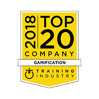 2018 Top Gamification of Learning Vendor by Training Industry badge