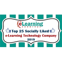 Designing Digitally Listed as a 2019 Top 25 Socially Liked Elearning technology Company by Elearning carnival