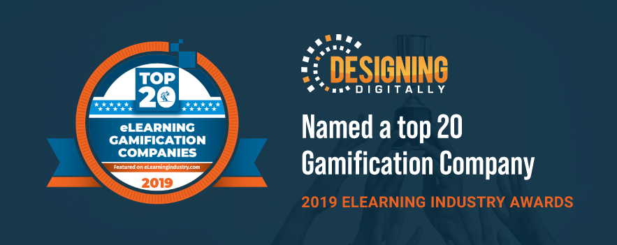 Designing Digitally, Inc. Selected as a Top 20 eLearning Gamification Company for 2019 by Elearning Industry