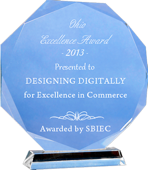 Designing Digitally, Inc. Award Winning Company - Excellence Award 2013