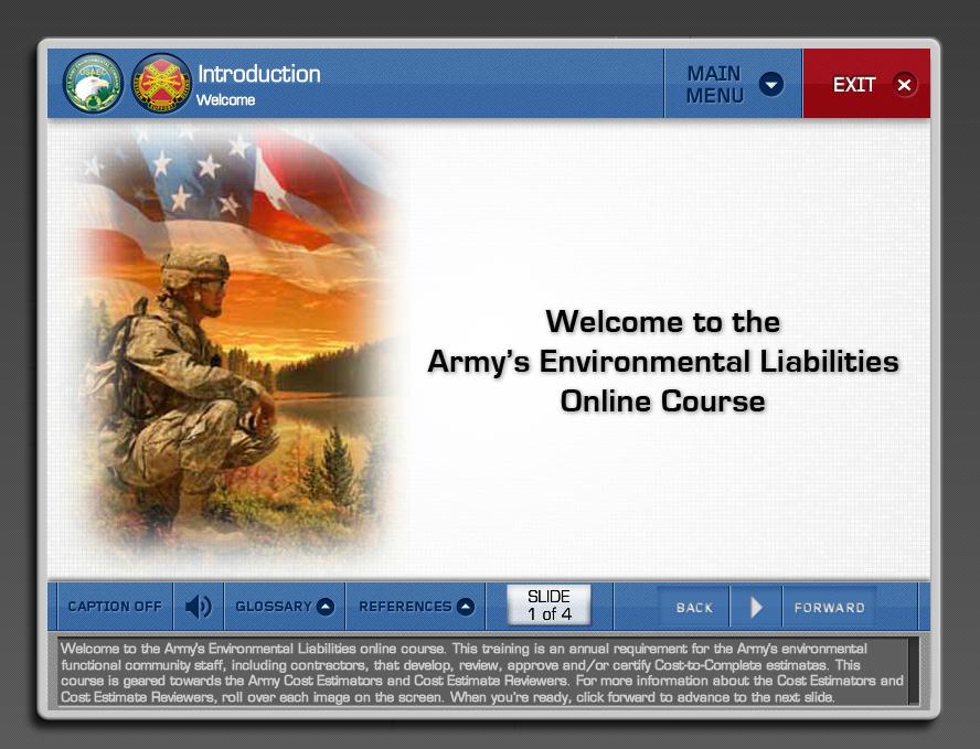 U.S. ARMY Environmental Liability eLearning Training