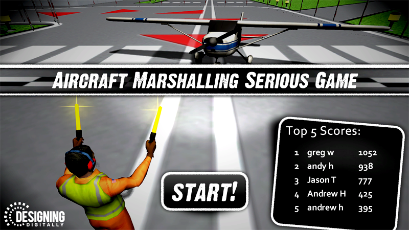 Air Marshall - Start Screen