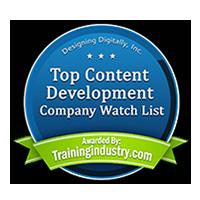 Training Industry Top Content Development Companies Watch List