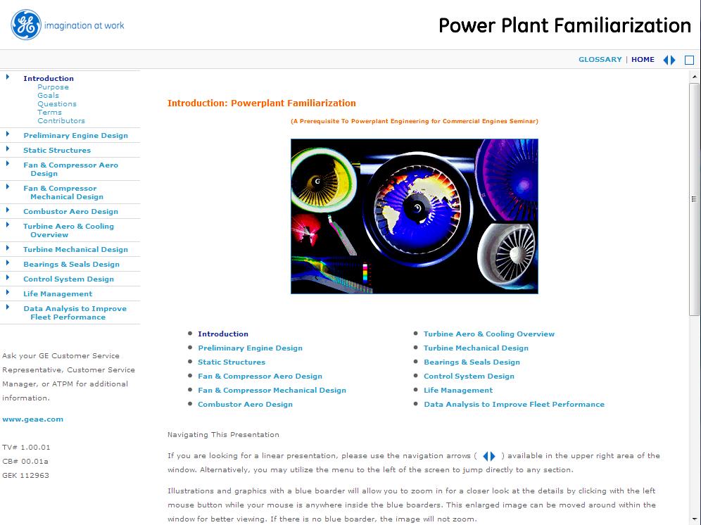 Power Plant Familiarization Module