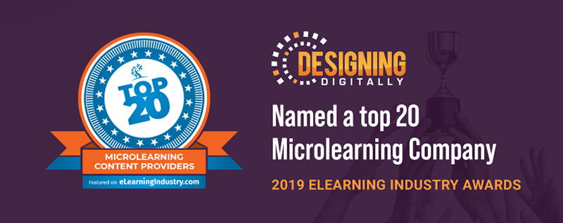 Designing Digitally, Inc. Announced as a Top eLearning Content Provider for Microlearning 2019