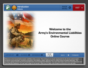 U.S. ARMY Environmental Liability eLearning Training