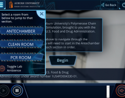 Auburn University: PCR Standard Simulation - Welcome Screen