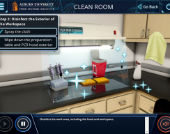Auburn University: PCR Standard Simulation  - Clean Room: Disinfect