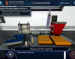 Auburn University: PCR Standard Simulation  - Clean Room: Dispose of the used PCR tip