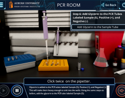 Auburn University: PCR Standard Simulation - PCR Room: PCR Room Chemicals