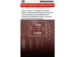 Bridgestone - True or False