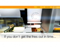 Fast Food Preparation Simulation - Fryer Lesson: If you dont get the fries out in time