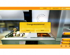 Fast Food Preparation Simulation - Fryer Lesson: Congratulation Screen