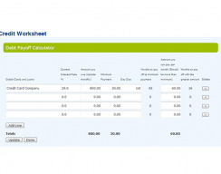 Find Financial Freedom Program - Debt Payoff Calulator