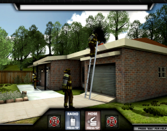 Firefighter Training Simulation - Climbing the Roof