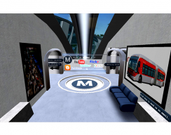 L.A. County Metro Transportation Authority Virtual Campus - Walkway to Meeting Room or Photo Archive