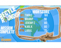 Recycle Roundup - High score Board