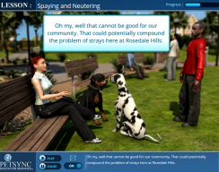 PETSYNC - Lesson: Spaying and Neutering Introduction Screen