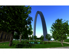 St. Louis Arch Virtual World