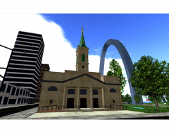 St. Louis Arch Virtual World - Church near Arch