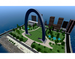 St. Louis Arch Virtual World  - Overview of Island