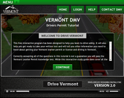 Drive Vermont - Launch Course Screen