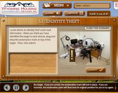 Wyoming Housing Network - Level 1: Identity Theft Scenario Screen