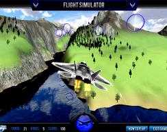 F22 Flight Simulator - Through the rings