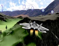 F22 Flight Simulator - Following the course