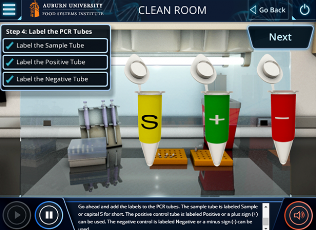 Auburn University: PCR Standard Simulation - Clean Room: Label the PCR Tubes
