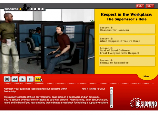 Culture of Civility and Respect - The Supervisors Role Objective Screen