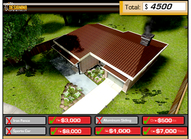 Debt Driven America - Financial Education Simulation - Game Play Screen