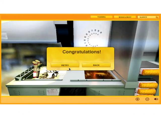 Fast Food Preparation Simulation - Fryer Lesson: Congratulation Screen