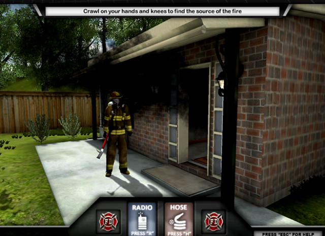 Firefighter Training Simulation - Entering the House