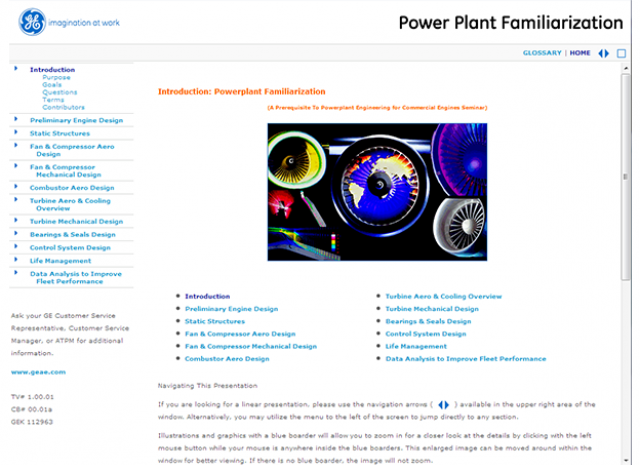 Power Plant Familiarization - Introduction Screen
