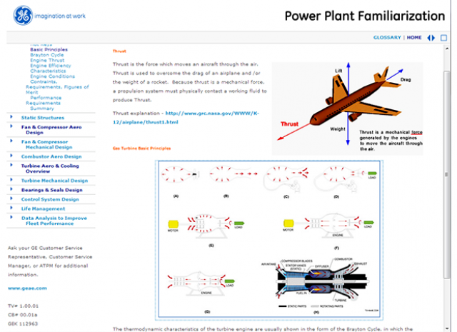 Power Plant Familiarization - Thrust of an Aircraft Screen