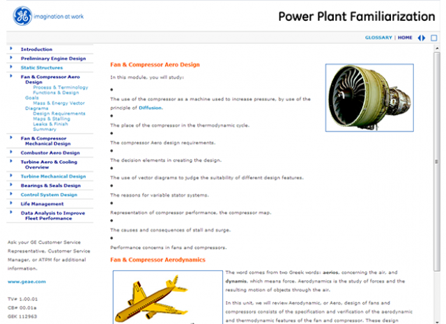 Power Plant Familiarization - Fan and Compressor Mechanical Design Screen