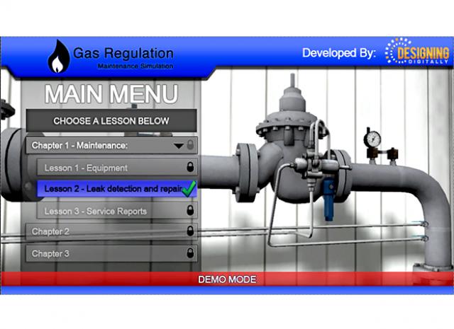 Gas Regulator Maintenance: Main Menu