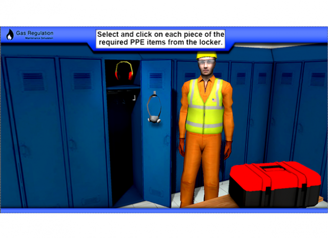 Gas Regulator Maintenance: Putting on Required PPE Items