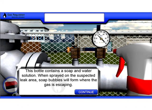 Gas Regulator Maintenance: Soapy water