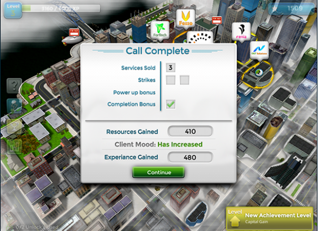 Mobilizer - Call Complete Screen
