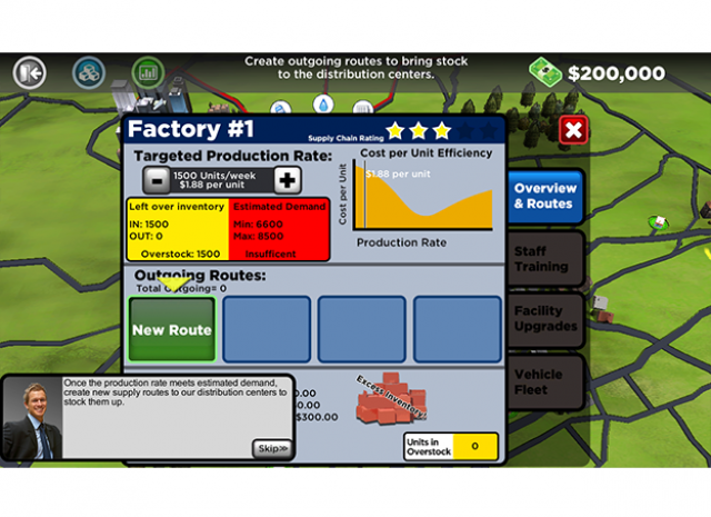 Supply Chain Management - Factory Route