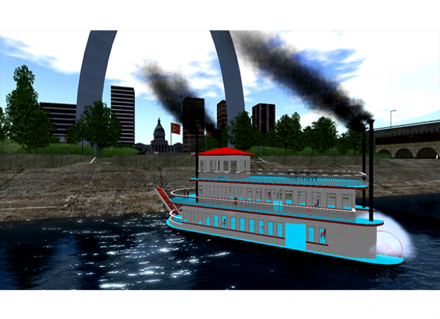 St. Louis Arch Virtual World - Ferry