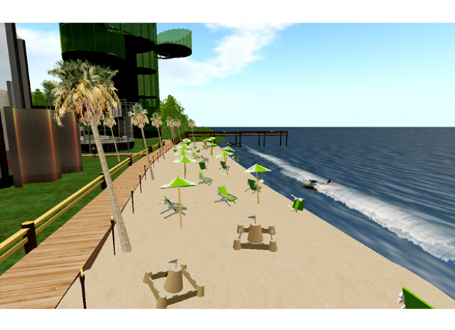 TD Ameritrade Virtual Headquarters - Daytime Beach