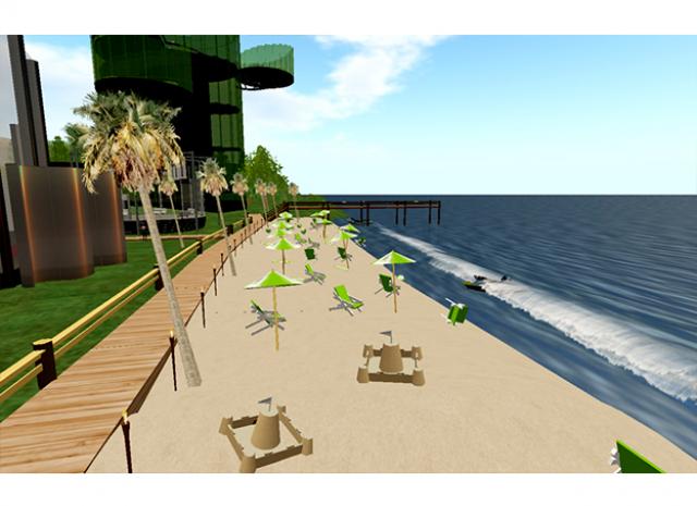 TD Ameritrade Virtual Headquarters - Daytime Beach