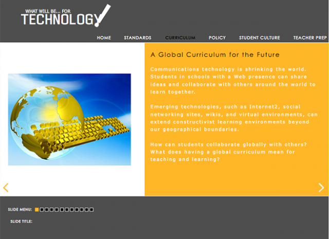 What Will be for Technology! - A Global Curriculum for the Future
