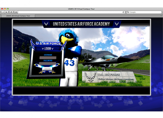 United States Air Force Academy - Start Screen