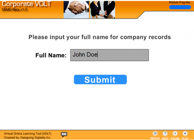 Corporate VOLT - User Name