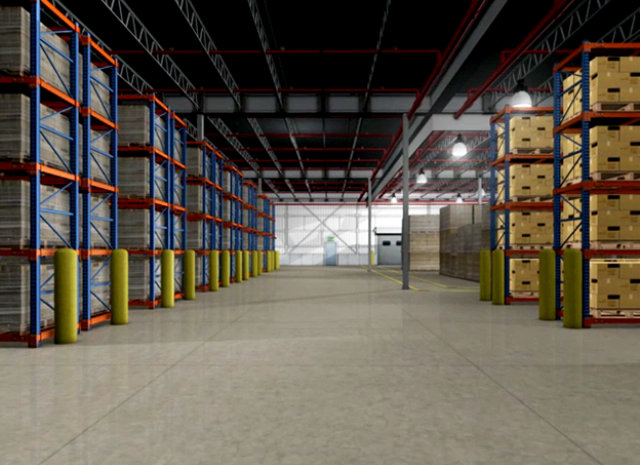 NFPA - 3D Warehouse floor view