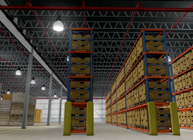 NFPA - 3D Warehouse Rows